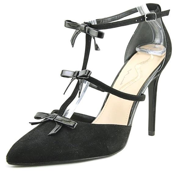 Nina Ryella Women Pointed Toe Suede Black Heels