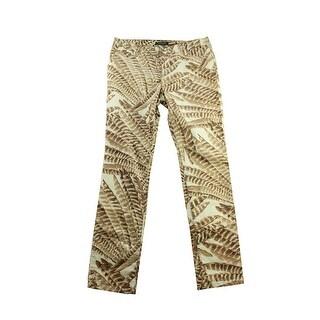Lauren Ralph Lauren Multi Velvet Printed Skinny Pants 10