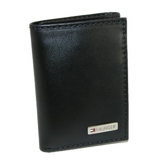 Tommy Hilfiger Men's Leather Fordham Trifold Wallet - Black - One Size