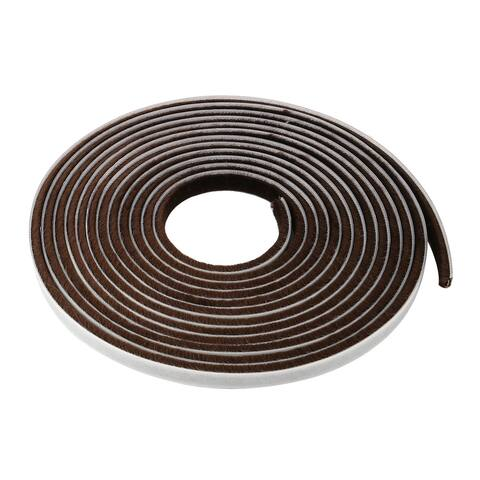 Furniture Door Seal Strip Weather Stripping for Window Brown 16.4 Ft(3/8 Inch Width x 3/16 Inch Thick)