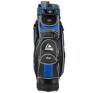 Costway Golf Cart Bag 14 Way Organizer Divider Top 12 Pockets for Extra Storage Blue - black and blue