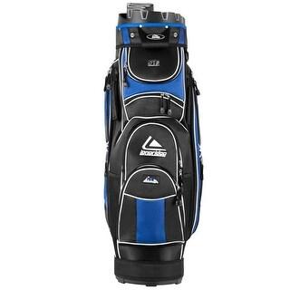 Costway Golf Cart Bag 14 Way Organizer Divider Top 12 Pockets for Extra Storage Blue