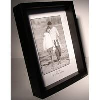 "12x12 Black Wood Shadow Box Frame - 1"" Depth"