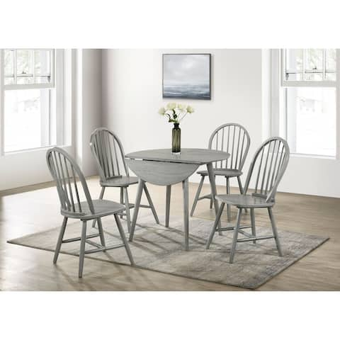 Picket House Furnishings Nyle Round Folding Table in Grey