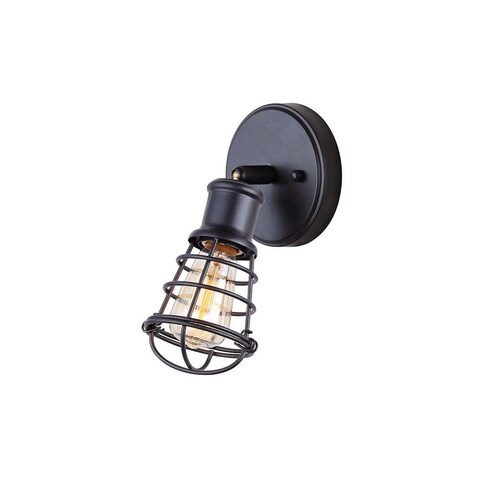 """Canarm ICW611A01 Otto Single Light 8-3/4"""" High Wall Sconce - Graphite - N/A"""