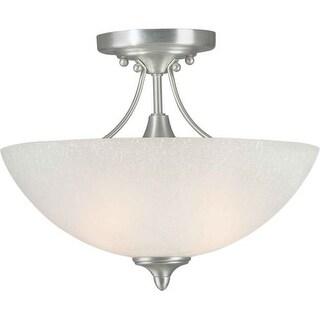 Forte Lighting 2378-02 13.5Wx11H Semi-Flushmount Ceiling Fixture