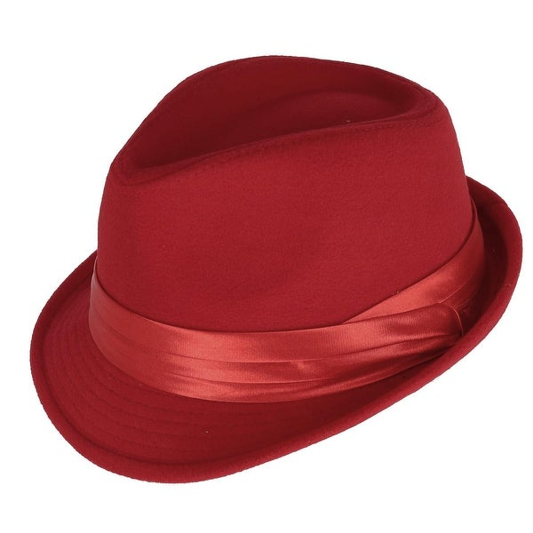 b4abeeff0c4 Shop Kenny K Men s Dressy Faux Felt Fedora - Free Shipping On Orders Over   45 - Overstock - 24203364