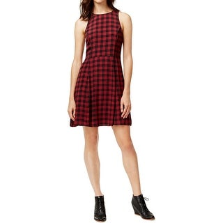 Sanctuary Womens Casual Dress Plaid Sleeveless