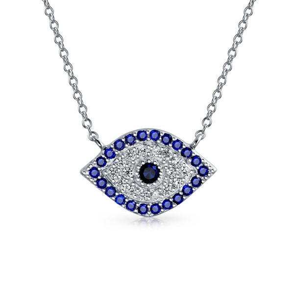 Jewelry & Watches Ladies .925 Sterling Silver Eye Shape And Chain Necklace