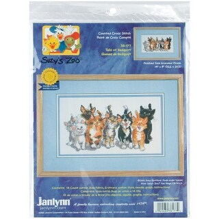 "Suzy's Zoo Tails Of Duckport Counted Cross Stitch Kit-14""X8"""