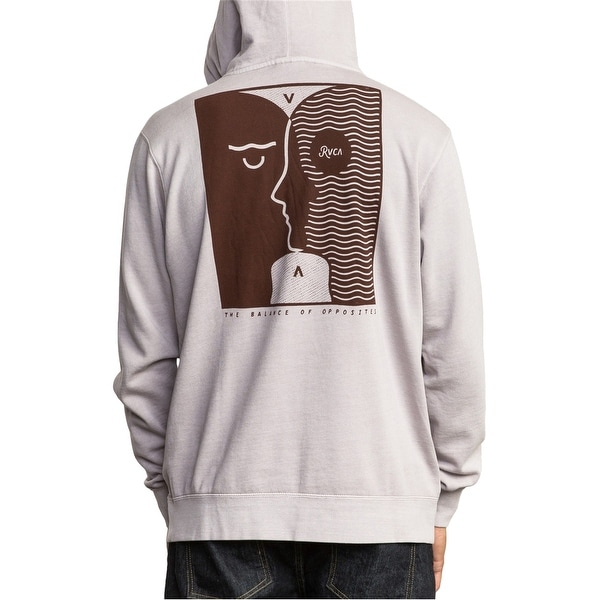 Rvca Mens The Balance Hoodie Sweatshirt. Opens flyout.