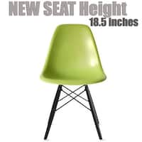 2xhome Green - Bedroom & Dining Room Side Ray Chair with Eiffel Dark Wood Dowel Legs