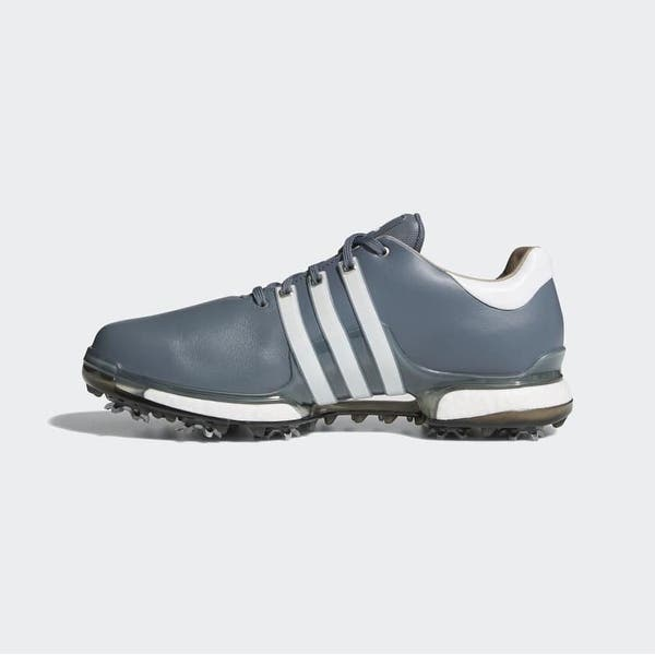 campana recepción logo  New Men's Adidas Tour 360 Boost 2.0 Golf Shoes Onix/Cloud White/Core Black  F33627 - Overstock - 28632530