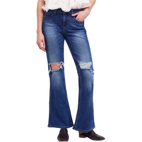 Free People Womens Authentic Flared Jeans