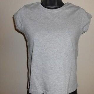 Girls YOUTH Medium M 10-12 Gray Reebok Shirt 44XZ