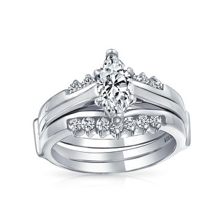 Link to 2.5CT Solitaire Marquise CZ Engagement Ring Set 925 Sterling Silver Similar Items in Rings