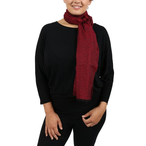 Moschino DM1 D1207/1 Red Signature Scarf - 18-68