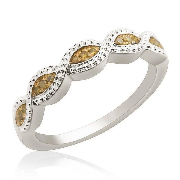 Beautiful Round Brilliant Cut Yellow Diamond Wedding Band Ring
