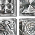Statements2000 Set of 4 Silver Metal Wall Art Accents by Jon Allen - 4 Squares - Thumbnail 3