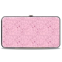 Sonic Classic Sonic Stars Outline Scattered Pinks Hinged Wallet - One Size Fits most