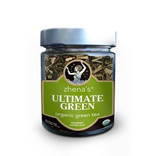 Zhena's Gypsy Tea Loose Leaf Tea Glass Jar Collection Ultimate Green Tea 1 oz. jar, 25 servings