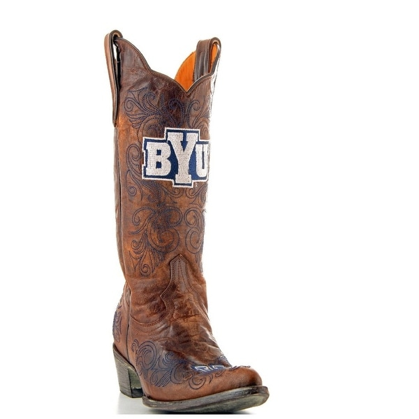 Gameday Boots Womens College Team BYU Cougars Brass