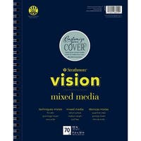 "Strathmore Vision Vellum Mixed Media Pad 9""X12""-98Lb, 70 Sheets"