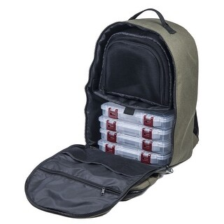 Plano tackle back pack green includes five 3600 stowaway