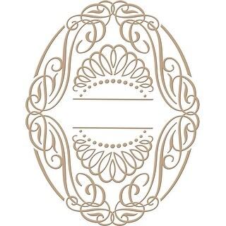 Spellbinders Glimmer Impression Plate-Elegant Oval