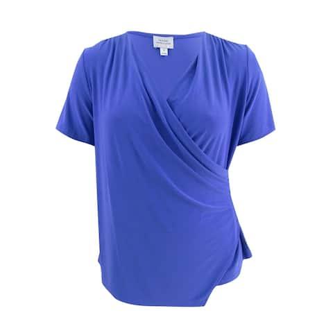 Tahari ASL Women's Plus Size Surplice Top - Deep Lavender