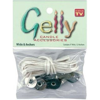 Gelly Candle Wick & Anchors-9' Wick; 12 Anchors