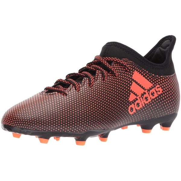 adidas X 17.3 FG 2017 Soccer Shoes Cleats Black Red Kids
