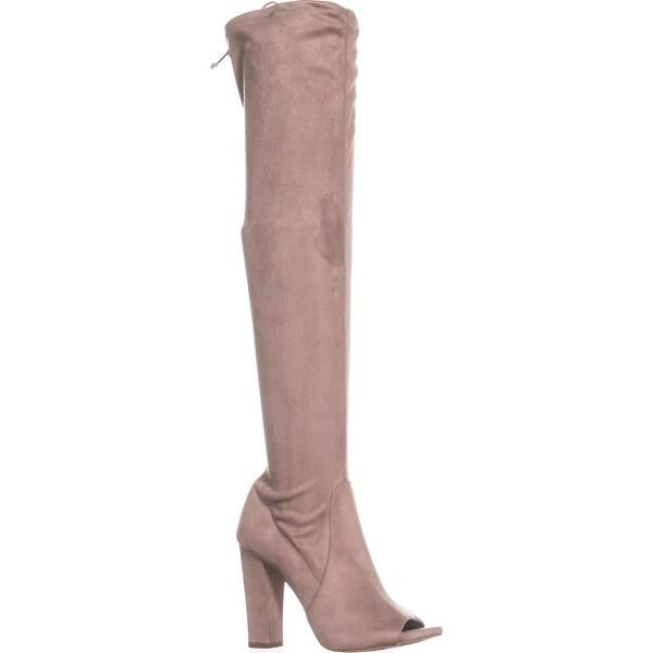 Carlos by Carlos Santana Fitz Peep Toe Over The Knee Boots, Doe