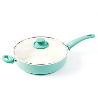 GreenLife Soft Grip Ceramic Covered Saute Pan, 5 Quart - 5 Quart