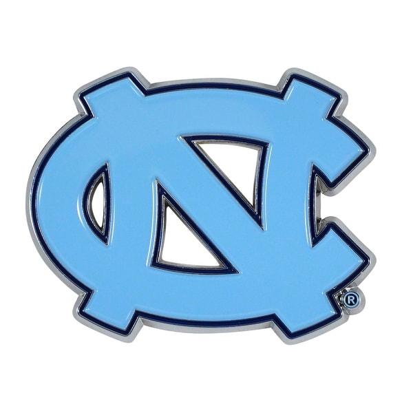 Shop University Of North Carolina Color Chrome Car Emblem Free