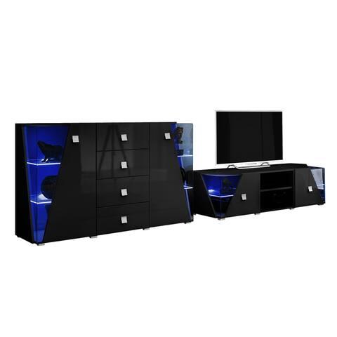 Edge Set TV-SB Modern Wall Unit Entertainment Center