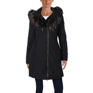 Noize Womens Donna Parka Faux Fur Trim Hooded