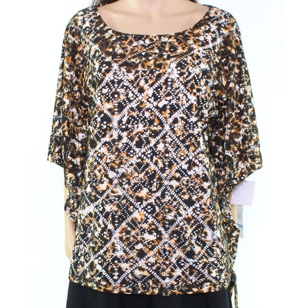 Shop Ruby Rd. Black Women s Size XL Safari Style Calico Spots Blouse - Free  Shipping On Orders Over  45 - Overstock.com - 21936970 ca4358e80cf6