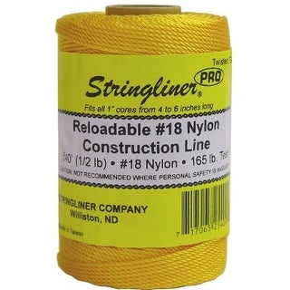 Stringliner 35400 Twisted Mason Line Reel Refill, Gold, 540'