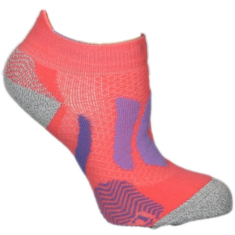 ASICS Resolution Low Cut Womens Tennis Socks Athletic Socks Comfort Technology - Pink