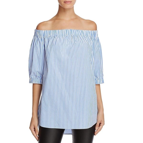 ec3f358c0edc13 Shop MICHAEL Michael Kors Womens Casual Top Stable Striped Off-The-Shoulder  - Free Shipping Today - Overstock - 18414044