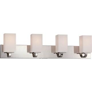 Nuvo Lighting 60/5184 Vista 4 Light Bathroom Vanity Light - polished nickel