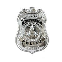 Police Badge Costume Accessory Adult One Size - Silver