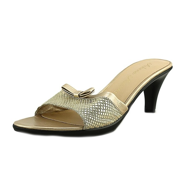 Athena Alexander Elated Women Open Toe Synthetic Gold Sandals