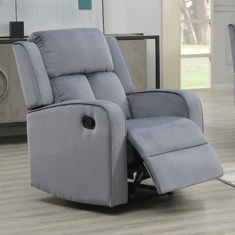 Dale Grey Fabric Upholstered Reclining Chair
