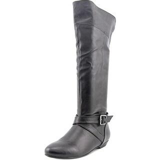 Chinese Laundry Newbie Women Round Toe Leather Knee High Boot