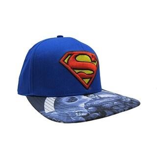 Superman Logo Action Sequence Brim Snapback Cap