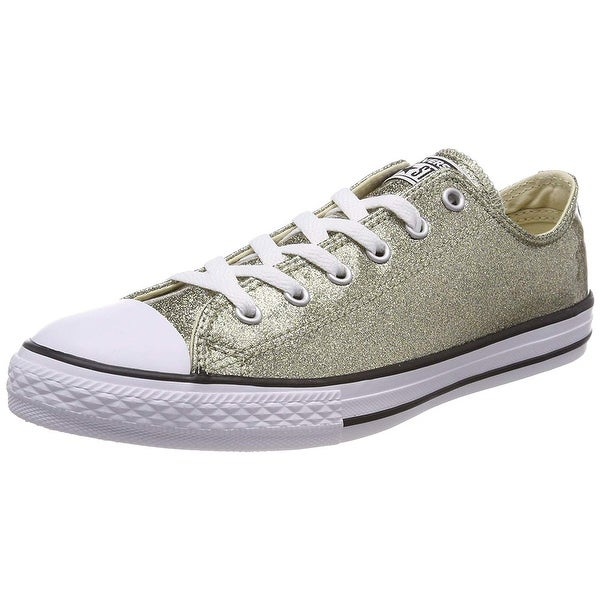 8c23a761dea3 Shop Converse Chuck Taylor All Star Glitter Ox Gold Synthetic Youth ...