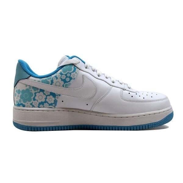 Shop Nike Air Force 1 '07 WhiteWhite Pro Cyan Powder Blue