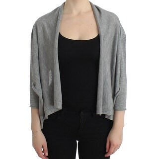 Dolce & Gabbana Gray Cashmere Cardigan Shrug Bolero Wrap Sweater - it36